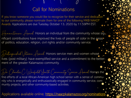 Humanitarian, Veteran and Youth Community Service Award | Call for Nominations