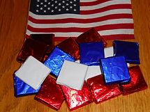Foil-wr squares, red, wh, blue, 2014 001