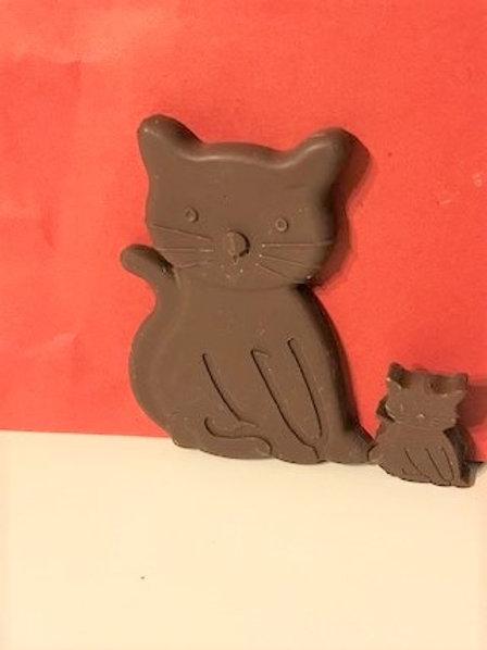 MILK CHOCOLATE CAT AND KITTY