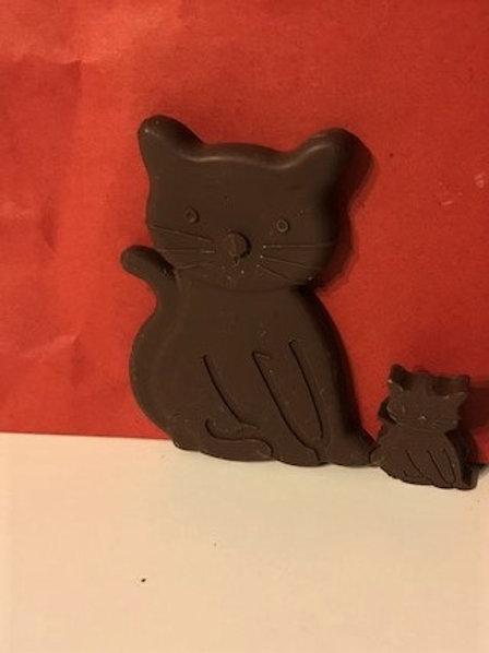DARK CHOCOLATE CAT AND KITTY