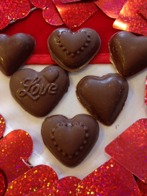 DARK CHOCOLATE HEARTS (12 per bag)