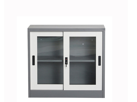 Low Slide Glass Door Cupboard