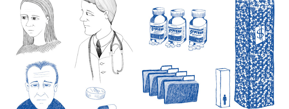 Cause of death unknown - illustrations for documentary