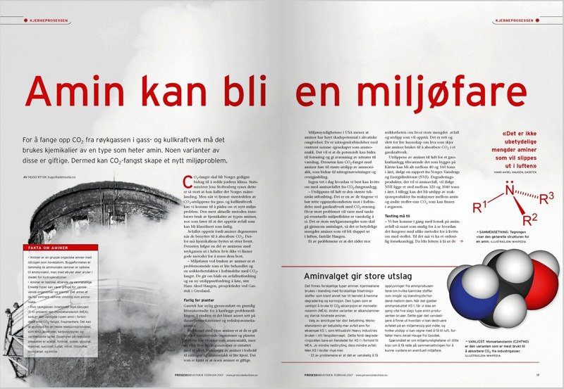 Prosessindustrien Magazine - layout