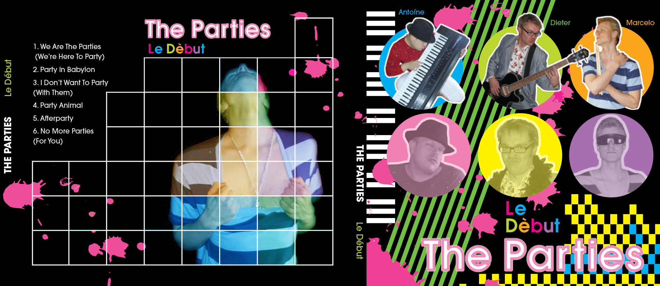 The Parties - CD cover layout