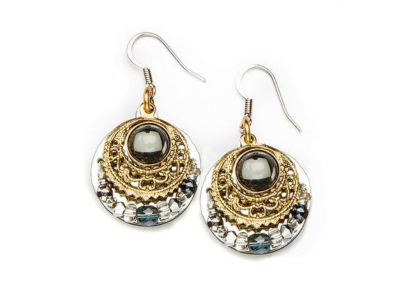 Gitana Earrings-Grey