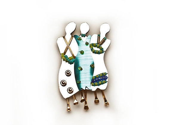Soul Sisters 3 Pin-Turquoise