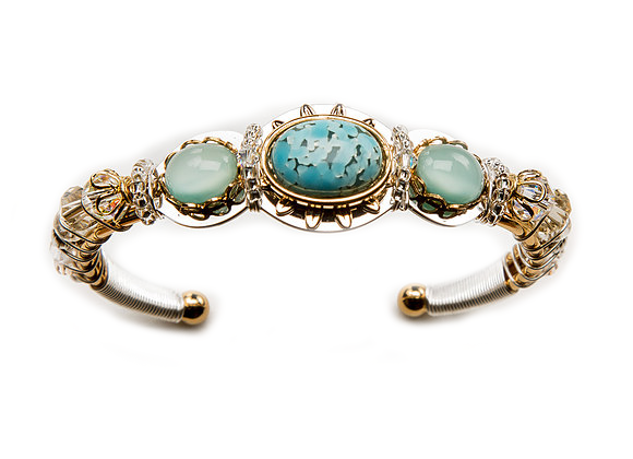 Lizcuff-Turquoise Oval