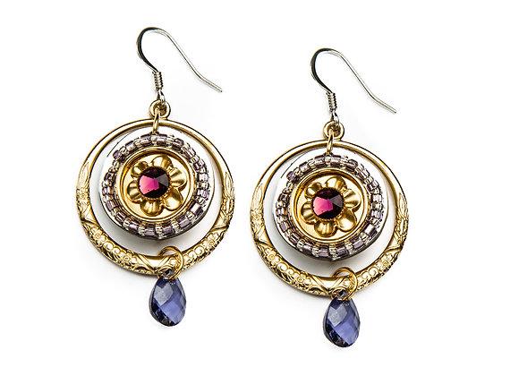 Dawn Earrings-Purple