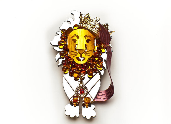 Courage Lion Pin