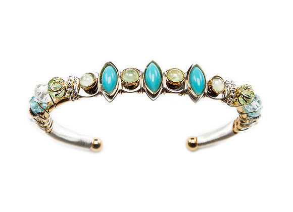 Cosmic Sisters Cuff-Turquoise