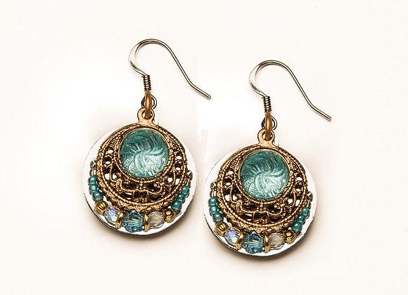 Gitana Earrings-Aqua