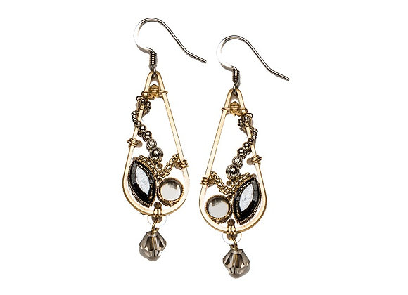 Intwine Earrings-Jet