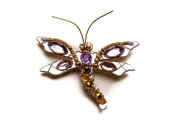 Dragonfly Sophia Pin-Purple