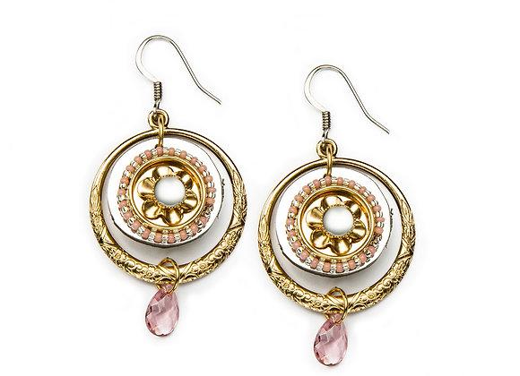 Dawn Earrings-Peach