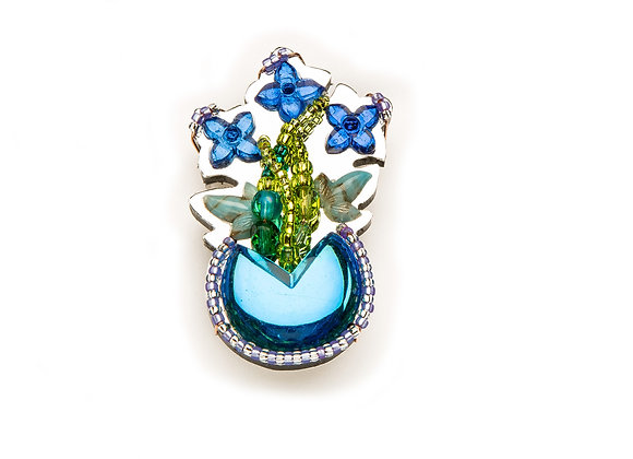 In Bloom Pin-Blue