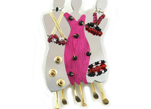 Soul Sisters 3 Pin-Red