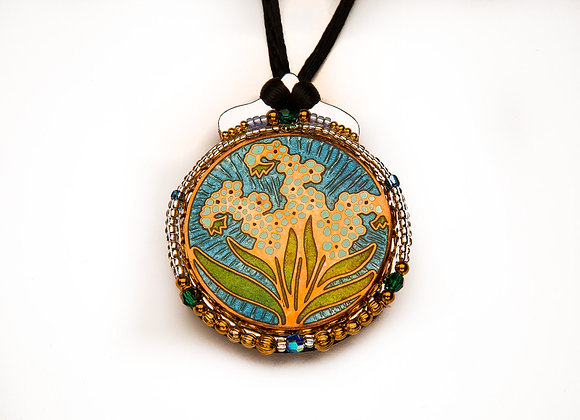 Botanical Pendant-Forget Me Not