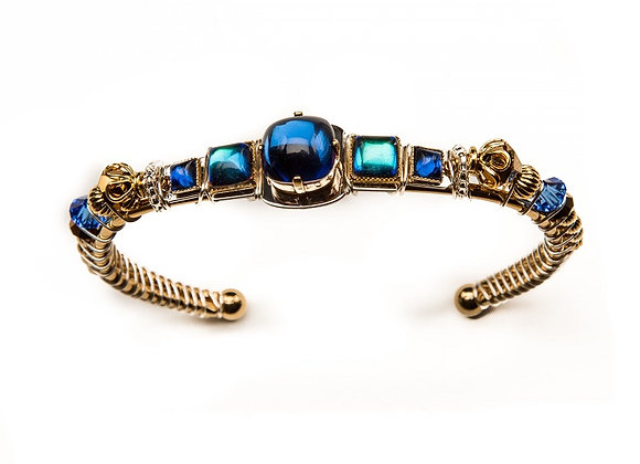 Stepping Stones Cuff-Blue
