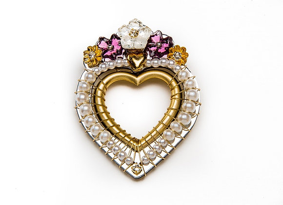 Diamonds and Pearls Pin