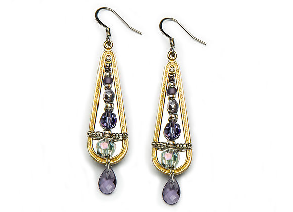 Megan Earrings-Violet