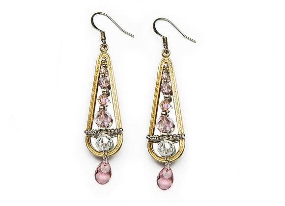 Megan Earrings-Pink