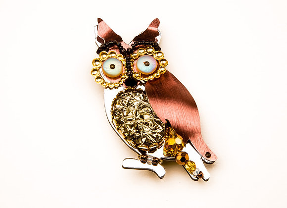Mrs. T The Owl Pin