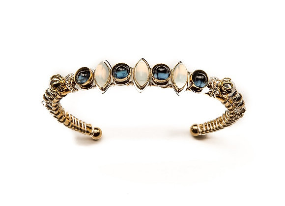 Cosmic Sisters Cuff-White/Blue