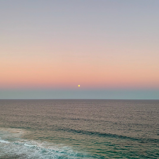Full Moon in the Pink Sky