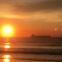 Rising Sun and a Tanker 2