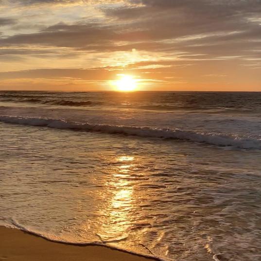 Sunrise over Nobbys Beach