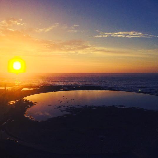 Sunrise over Newcastle Beach