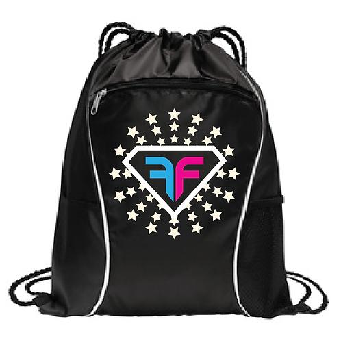 BG613 Cinch backpack with front zipper pocket