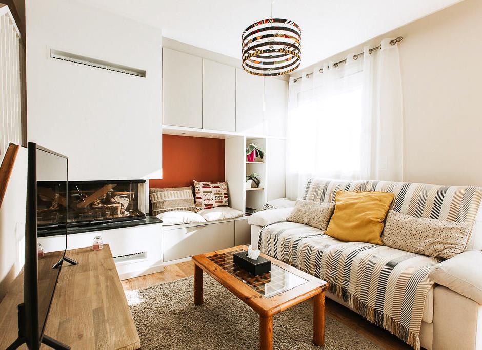 Séjour chaleureux & chambre cosy / 50,00 m²