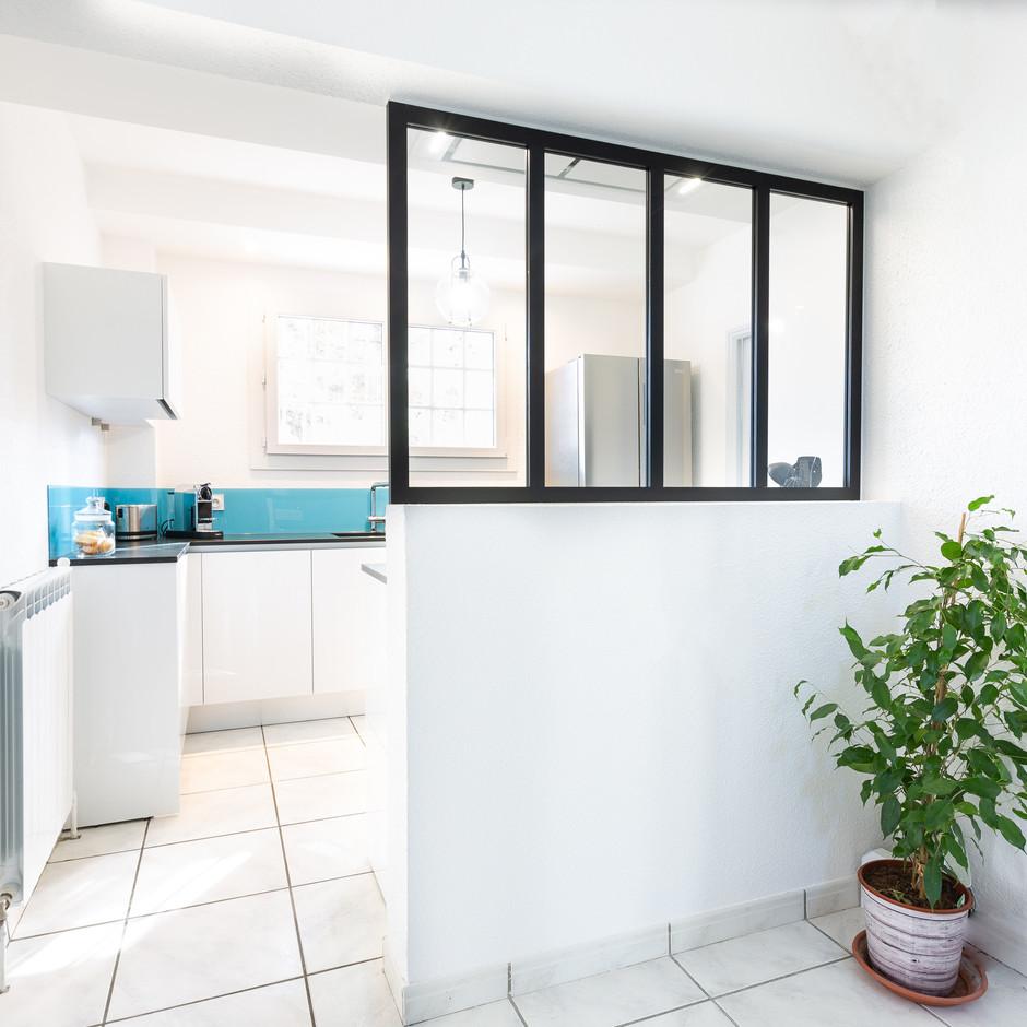 Une verrière en cuisine / 9,00 m²