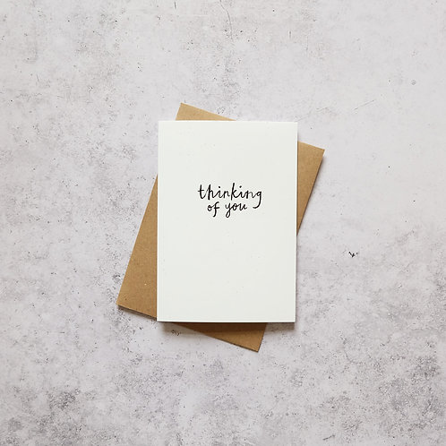 Thinking of you // Greeting Card