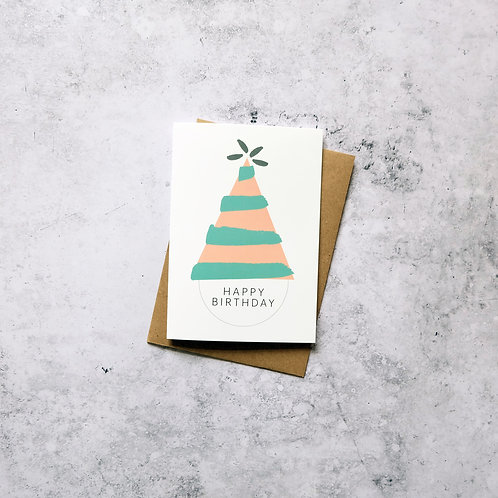 Party hat birthday // Greeting Card