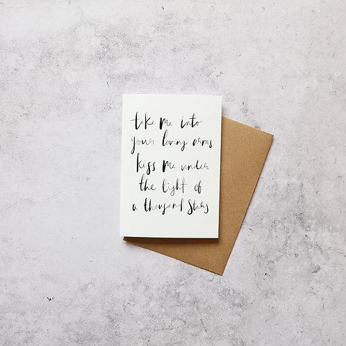 Thinking out loud - Ed Sheeran // Greeting Card