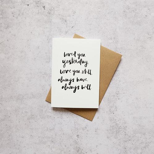 Love you always card