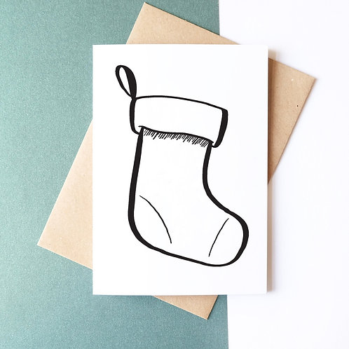 DIY Christmas // Greeting Card // A5 Christmas Tree & Stocking