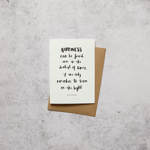 Harry Potter, Dumbledore // Greeting Card