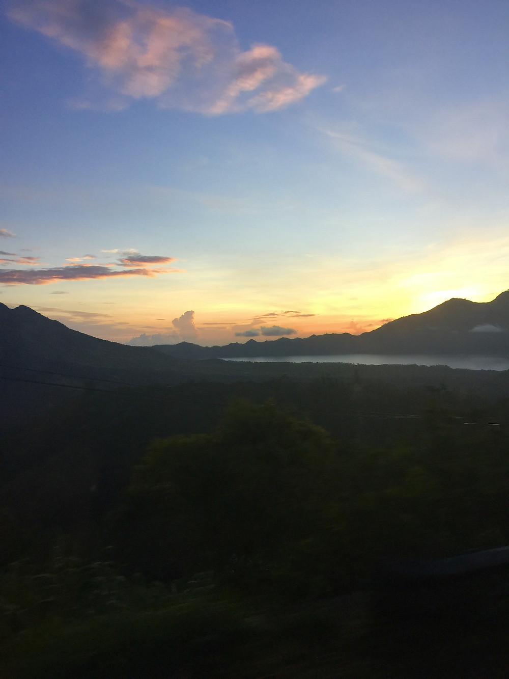 Sunrise at mt Batur.
