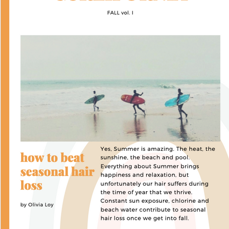 HOW TO BEAT SEASONAL HAIR LOSS