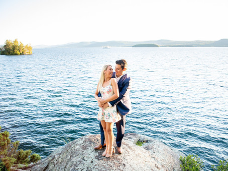 Danielle & Steven's Lake George Private Boat Engagement Session
