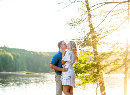 Jenna & Kyle's Lakeside Upstate NY Engagement Session