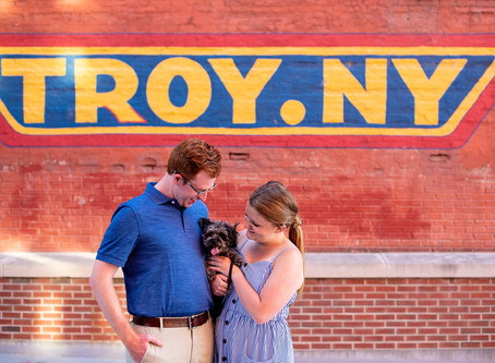 Emily & Tyler's Sage Park Engagement Session in Troy, NY