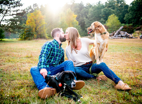 Mary & Ryan's Engagement Photo Session at Saratoga State Park, Saratoga Springs, NY