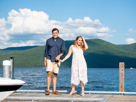Jocelyn & Gabe's Bolton Landing Engagement Session, Lake George, NY