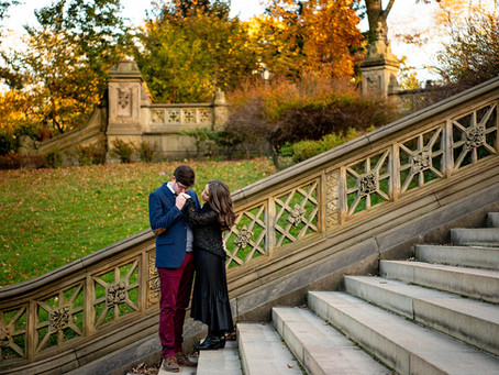 Laura & Asher's Engagement Session in Central Park, New York City, NY