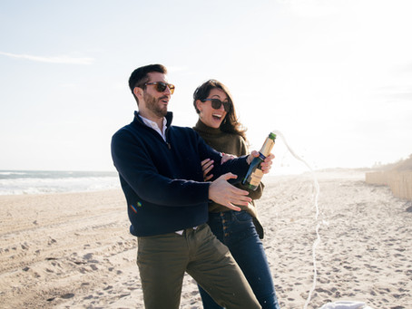 Libby and Kenny's Beach Engagement Session, East Hampton, NY